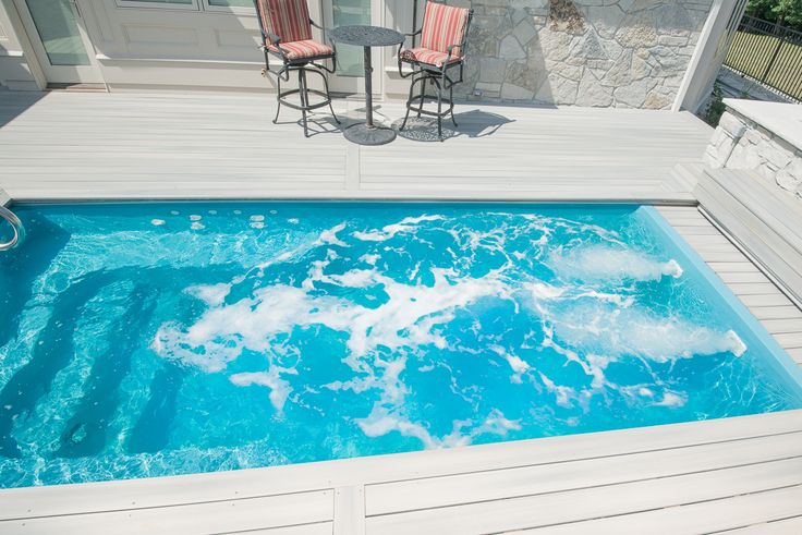 This is the thursday pools sea turtle fiberglass pool for Pool jets design