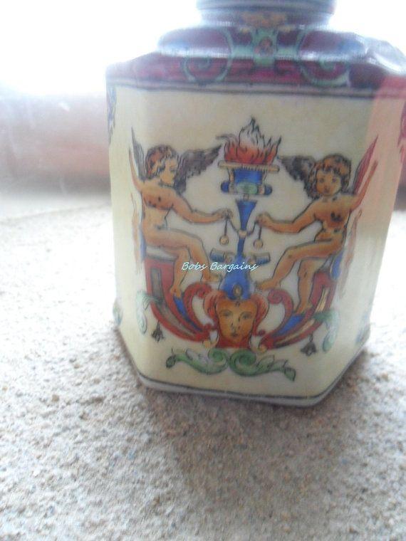 Hand Painted Ceramic Pot  Snuff Bottle  by JanniesJunkandJems, €13.00