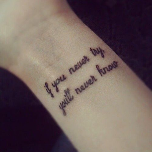 Best 25+ Wrist Tattoos Quotes Ideas On Pinterest