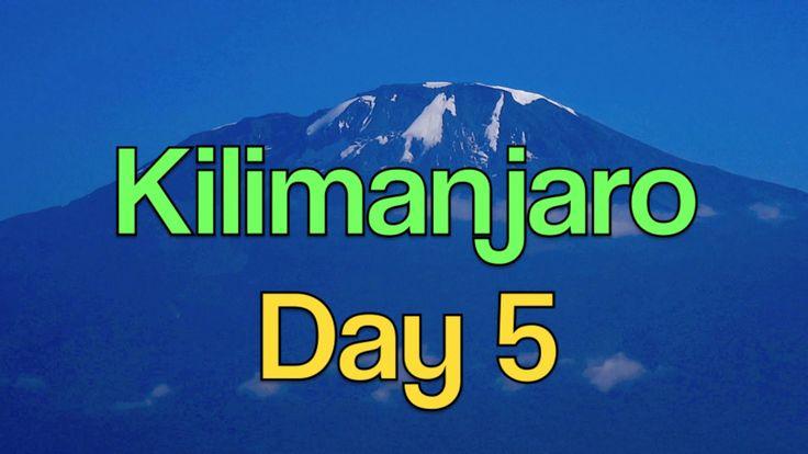 Mt. KILIMANJARO - DAY 5 - 2 LADIES  12 MEN   7 DAYS - Karanga Camp to ...