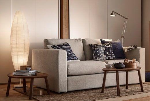 info pour 14b49 4ea75 Canapé tissu 2 places VIMLE beige IKEA | Salon W | Canapé ...