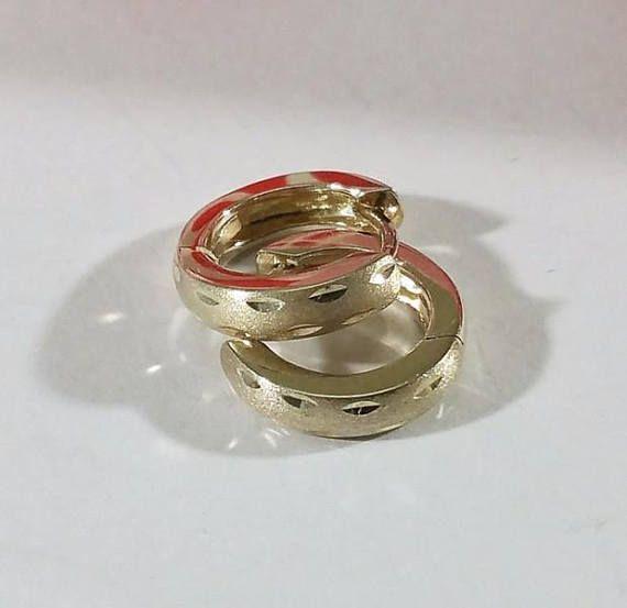 Ohrringe Creolen Silber 925 Vintage elegant teildiamantierter