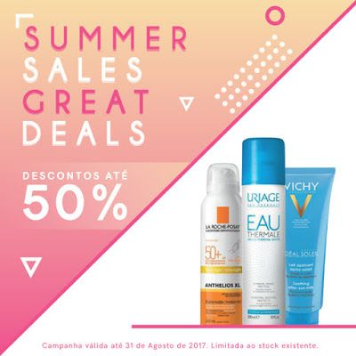 Amostras e Passatempos: Summer Sales Great Deals by Skin