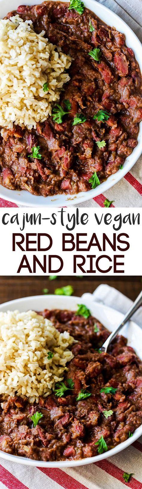 Dinner Recipe: Cajun-Style Vegan Red Beans & Rice #vegan #glutenfree #recipes #healthy #plantbased #whatveganseat