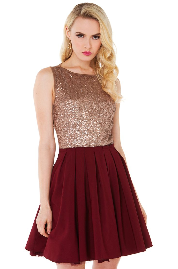 Sequin Bust Dress