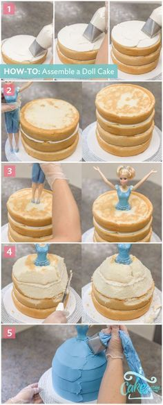 Cinderella Prinzessinen Kuchen selber machen *** How to make a Disneys Cinderalla Princess doll cake