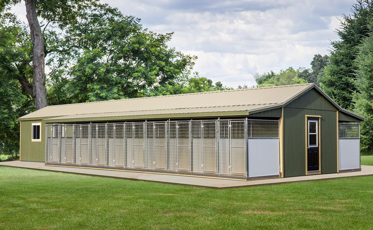 Best 24X60 Commercial 16 Box Dog Kennel Standard Features 400 x 300