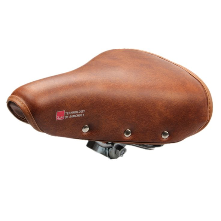Bicycle Saddle Vintage Retro Riveted Cycling Saddle Comfortable Durable Seat Cover Bike Accessories sillin bicicleta carretera