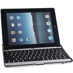 Aluminum Alloy Rechargeable Wireless Bluetooth 2.0 Keyboard for iPad 2 iPhone