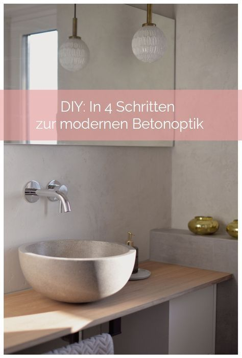 Do It Yourself Anleitung: In 4 Schritten Zur Modernen Betonoptik