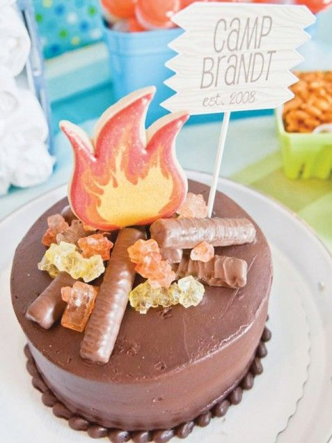 Best Birthday Themes for Boys -- Camping