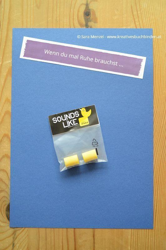 "Wenn-Buch ""Wenn du mal Ruhe brauchst ..."" Ohropax  Wenn Buch basteln | Wenn Buch Ideen | Wenn-Buch Anleitung | Wenn-Buch Vorlage | Bastelanleitung"