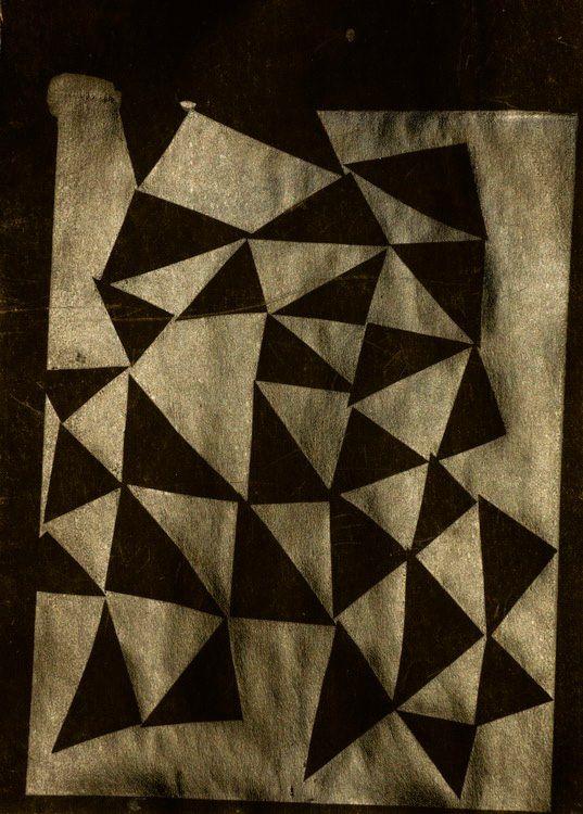 Black on Black silk print 2013