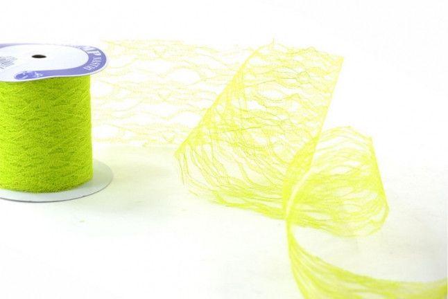 Merletti - Nastro di Pizzo Verdino mm.40 metri 10 - un prodotto unico di raffasupplies su DaWanda