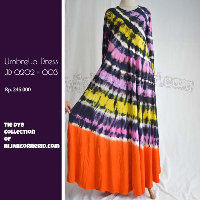 Baju Pelangi Umbrella Dress Kualitas Terbaik: Baju pelangi panjang motif tiedye yang cantik dan adem | umbrella dress