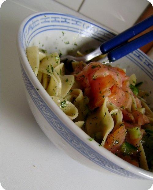 Lachs, Zucchini & Pasta in Dill-Orangensauce.: Favorit Recipe, Favorite Recipes