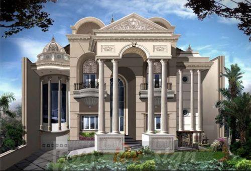 Gambar Desain Rumah Mewah Eropa 2 Lantai
