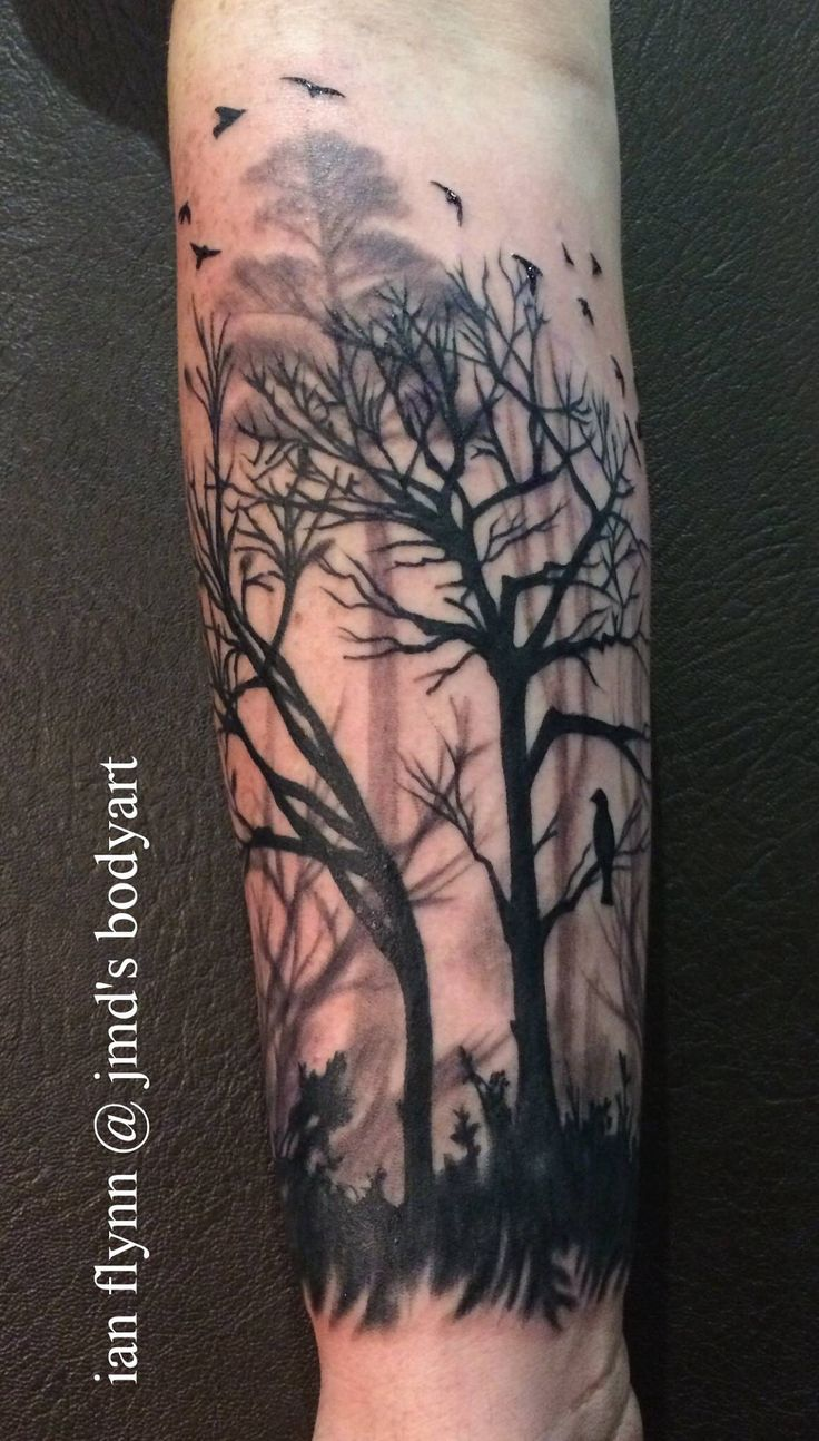 Tree silhouette tattoo by ian flynn
