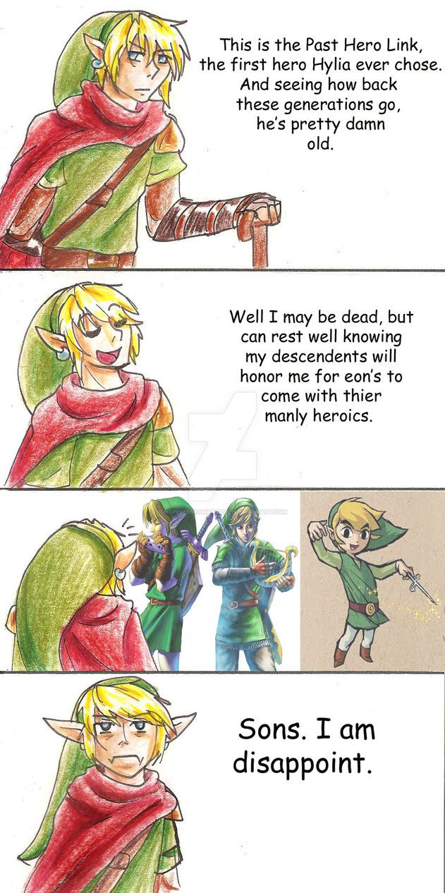 Past Hero Link is Disappoint by hopelessromantic721 on DeviantArt