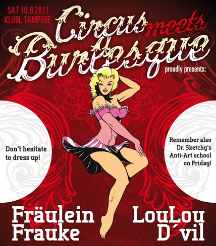 Circus meets Burlesque - the annual celebration and crazy mixture of old time magic, circus talents and burlesque!