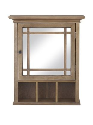 38% OFF Elegant Home Fashions Harrington Medicine Cabinet, Weathered Wood