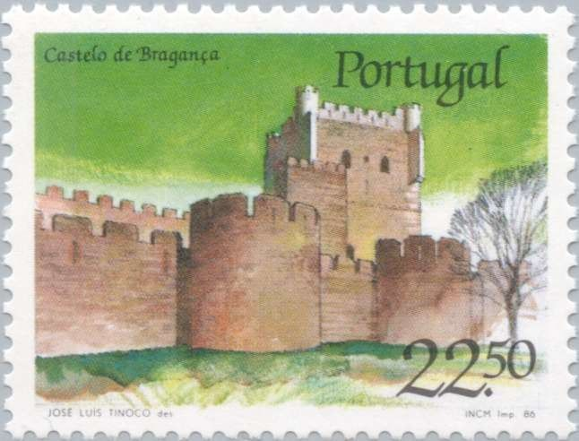 Sello: Castle of Braganza (Portugal) (Castles and Coat of arms of Portugal (2nd group)) Mi:PT 1689,Sn:PT 1666,Afi:PT 1755