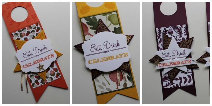 Wine Bottle Tags, Color Me Autumn, Bright and Beautiful, Holiday Invitation
