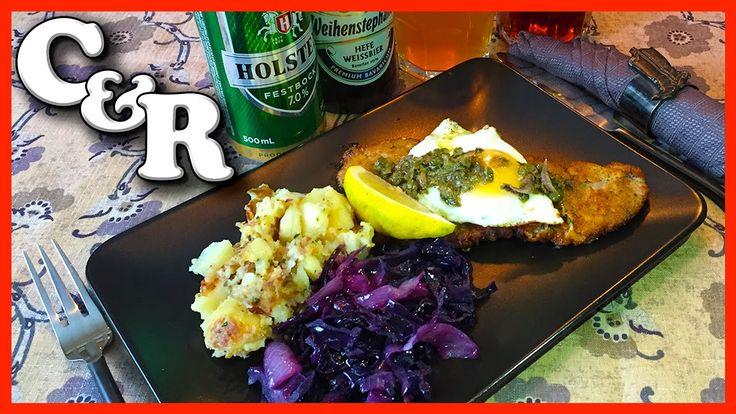 Wiener Schnitzel Holstein w/Beer Braised Red Cabbage & German Potatoes -...