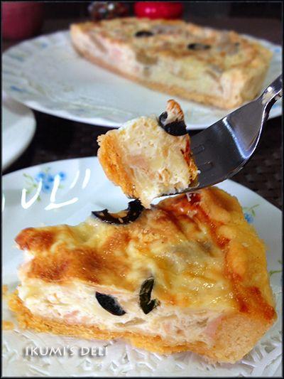 ツナとオリーブの豆乳キッシュ