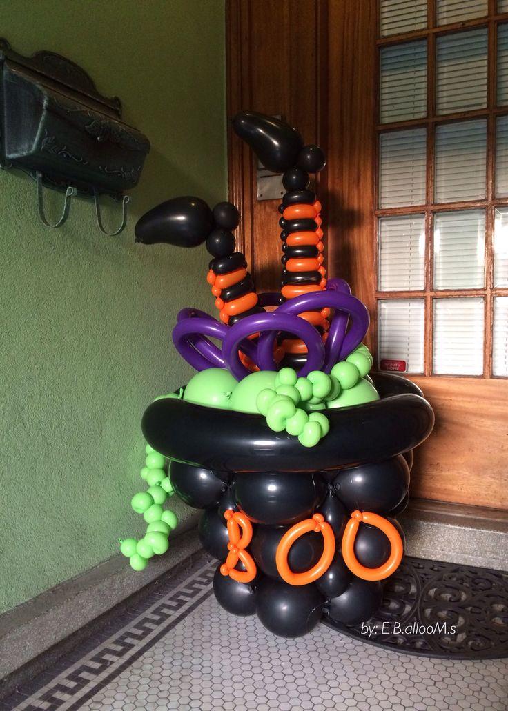Best halloween balloon decorations images on pinterest