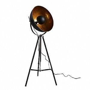 Retro Tripod Studio Floor Lamp Black Gold