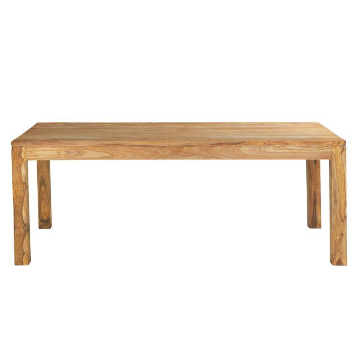 Tavolo per sala da pranzo in massello di legno di sheesham L 220 cm Stockholm, Maison du MOnde