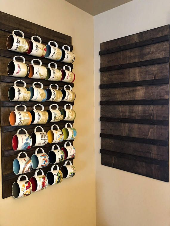 Wall Mounted Coffee Mug Holder Cup Rack