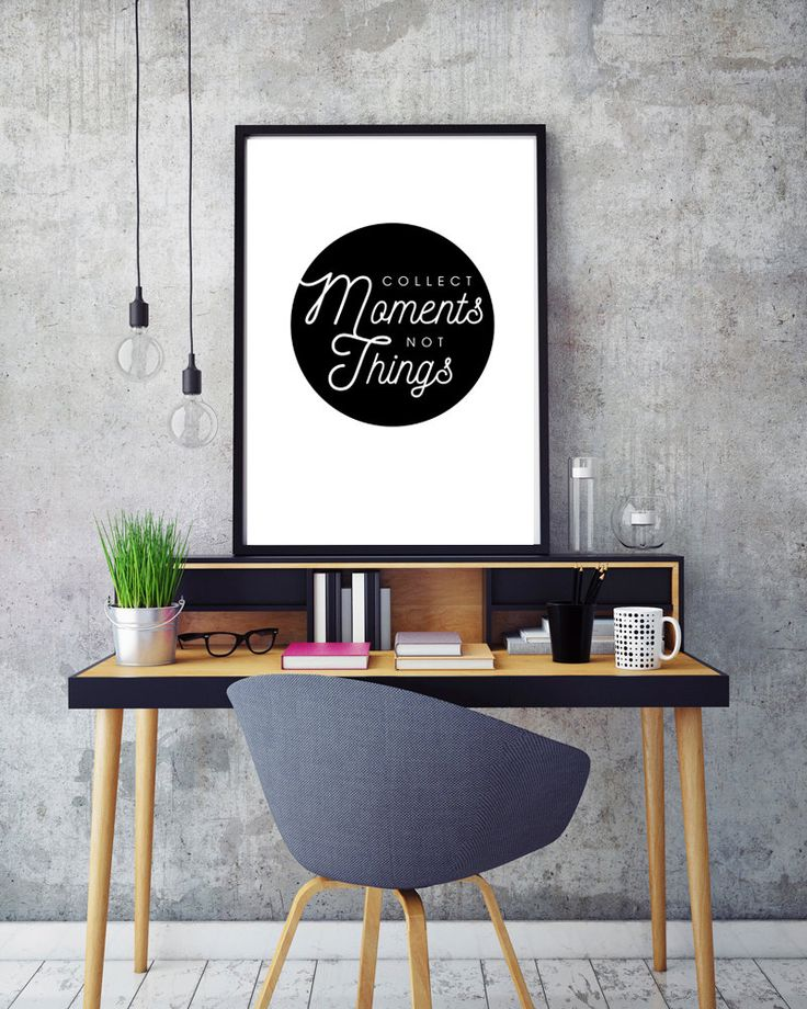 Collect Moments Not Things Inspiration Quote Printable Art Minimalist Wall Decor Living