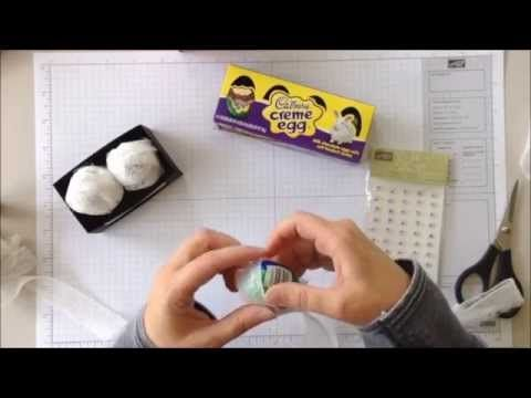 Cadbury Egg Caddy by Betty Traciak Create an adorable gift box for a pair of Cadbury eggs - make them into mummies for a fun Halloween treat! For step by ste...