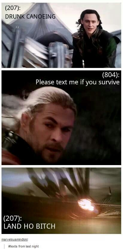Loki ~ Thor: The Dark World ~ Texts from last night