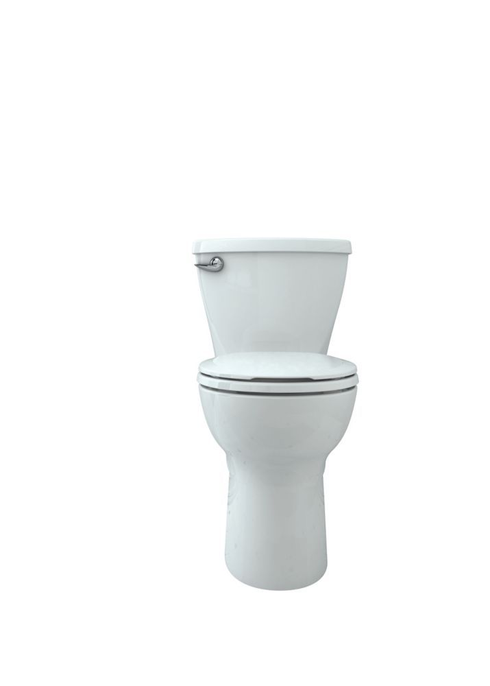 Cadet Tall Height 10 Rough In 2 Pc 1 28 Gpf Single Flush Round Toilet With Slow Close Seat In White In 2020 Toilet Traditional Vanity One Piece Toilets