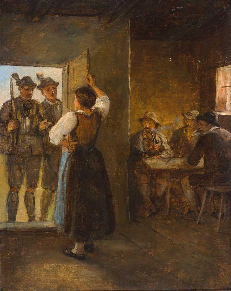 Franz von Defregger - Ankunft der Jäger