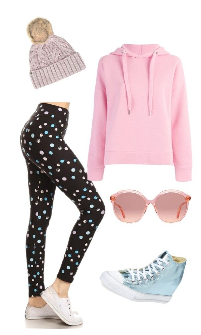 Going dottie set by theresa-place on Polyvore featuring Closed, Converse, UGG, Gucci, Leggings and shesgotleggz