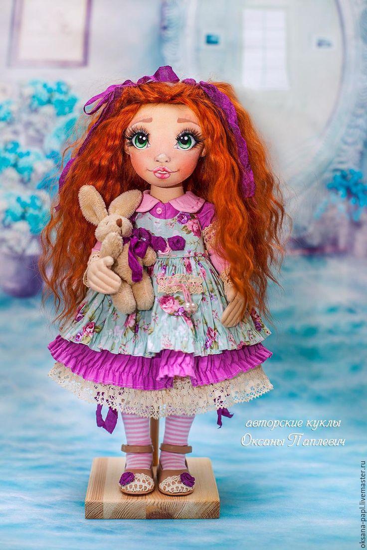 Купить Авторская текстильная кукла - сиреневый, кукла ручной работы, авторская кукла, интерьерная кукла