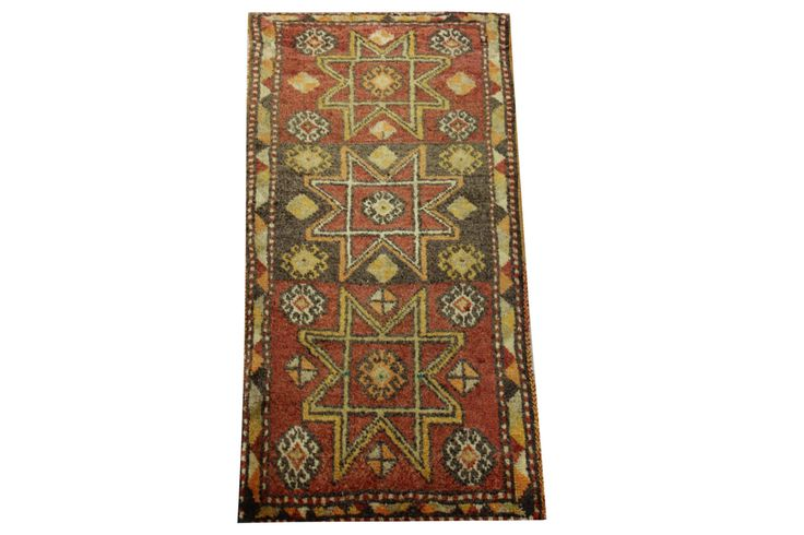 Doormats Turkish rugs handmade 3.0 x 1.4 Feet Anatolian pattern bathmats Small size rugs Rustic Rug Handwoven rug natural dye wool rug HY-29 by stripepattern on Etsy