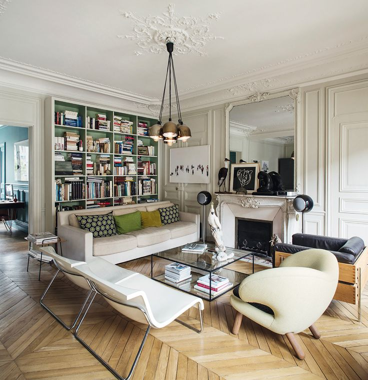 Adding color to parisian haussmanian apartment faye toogood drawing rooms and salons