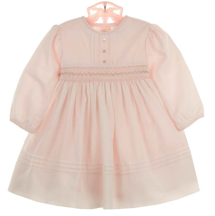 NEW Sarah Louise Pink Voile Smocked Dress with Delicate Crystal Beading $60.00