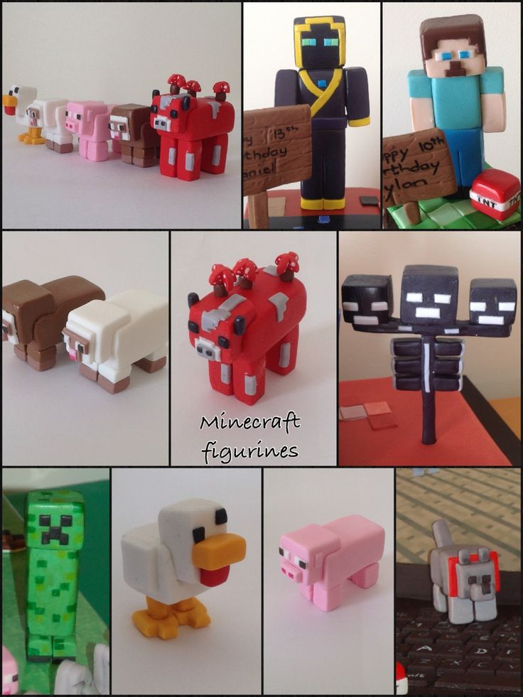 Minecraft Figurines Bake Make Decorate Pinterest