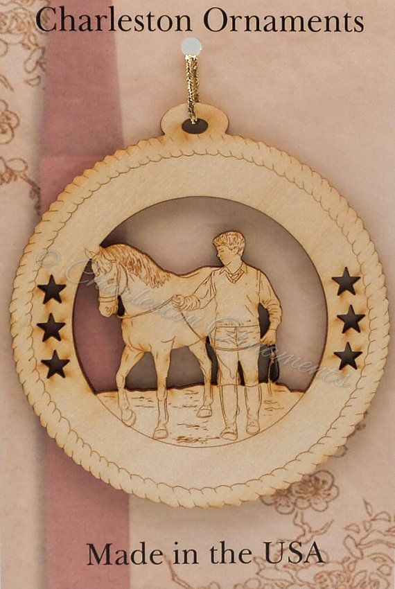 Custom Wooden Male Walking HORSE Ornament Engraved and Personalized FREE