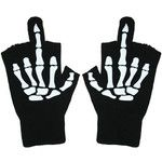 Fingerless Gloves - Glow In The Dark Up Yours by TooFast Clothing Too Fast Clothing Punk Rock Gothic Girls Tops Tees