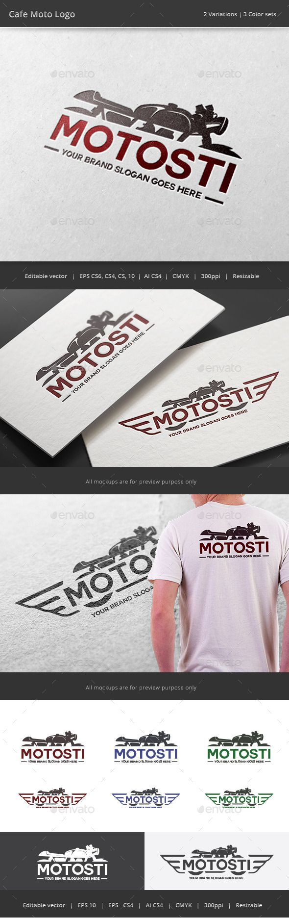 Cafe Motorcycle Logo - Download…