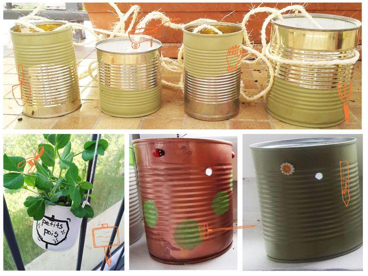 le tuto écolo - Pimp my can : transforme des boîtes de conserves en pot pour tes plantes #diy #écolo