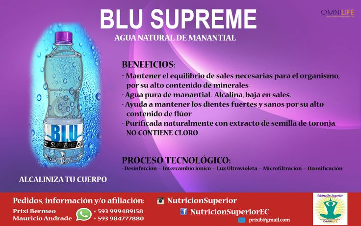 Agua ALCALINA BLU - Omnilife