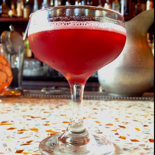 THE WICKET KEEPER Four Roses Bourbon @4RosesBourbon, Creme de Casis, fresh lemon & allspice! Served at Happy Hour!